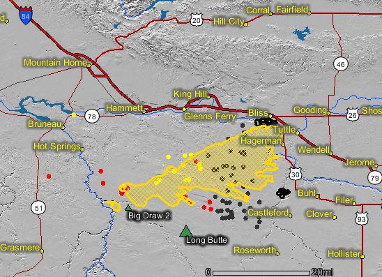 Long Butte fire map