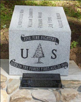 Monument 1910 fires for Ranger Pulaskis crew