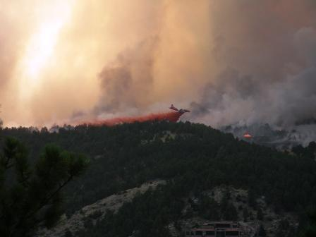 Fourmile fire air tanker