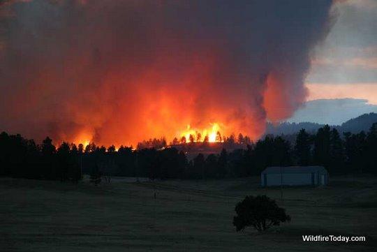 Alabaugh fire near hot springs sd