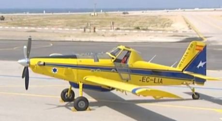 Air Tractor AT 802 air tanker in Israel