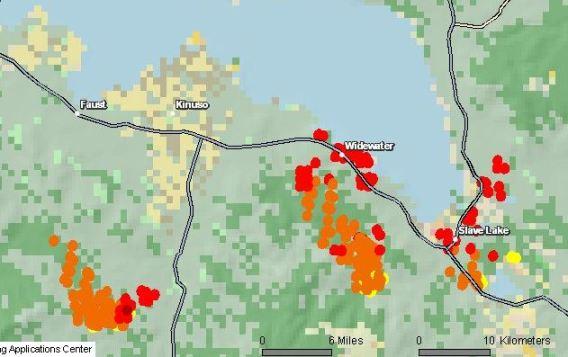 Map Slave Lake fire 5-16-2011