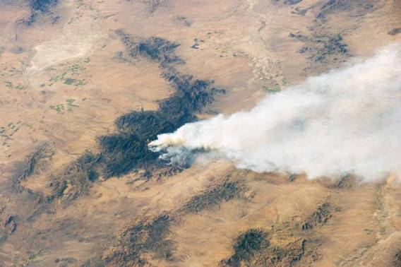Horseshoe Two fire from Earth orbit