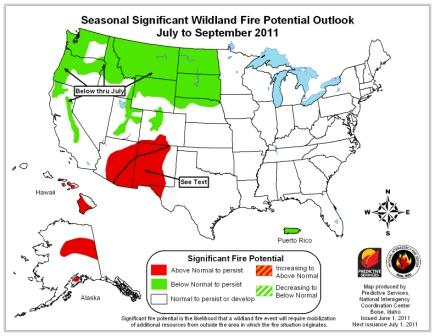 seasonal wildfire potential outlook