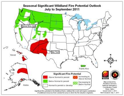 seasonal wildfire potential outlook