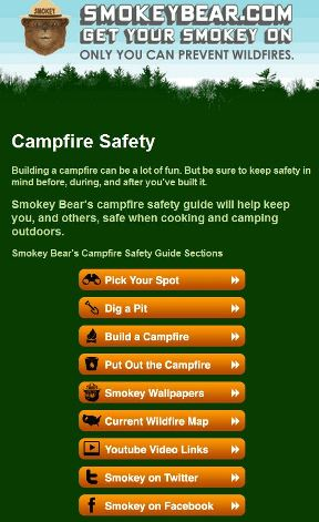 New Smokey Bear video and mobile apps
