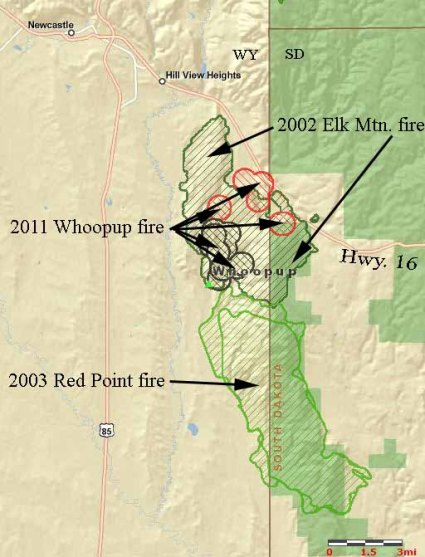 Whoopup fire-historical fires
