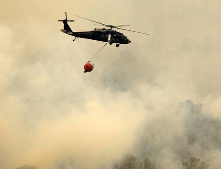 Texas National Guard Blackhawk fire