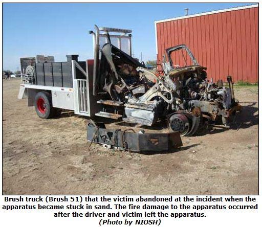 NIOSH report, Texas wildfire fatality