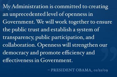 Open Government, President Obama