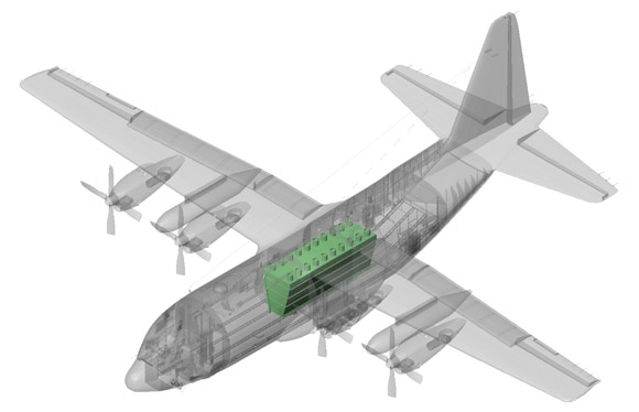 C-130H internal gravity tank