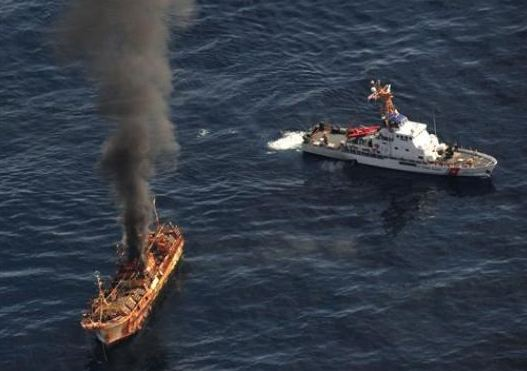 Coast Guard sinks ship