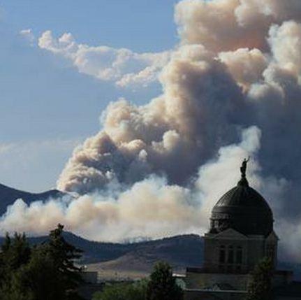 Corral fire, Helana, MT