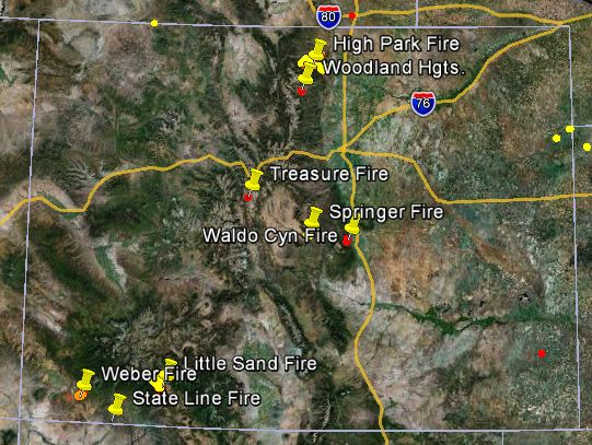 Colorado joined the union 100 years after the declaration of independence was signed, thus its mon. Firefighters In Colorado Are Working 8 Large Wildfires