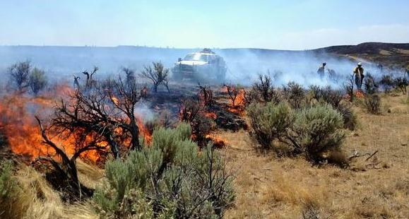 Miller Homestead fire, July 14, 2012