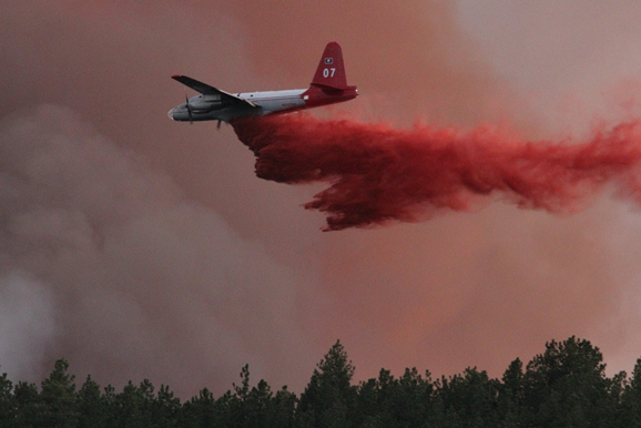 Myrtle Fire air tanker drop