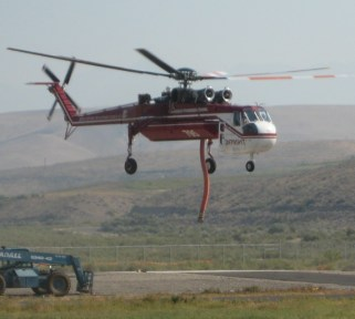Helicopters at Salmon, Idaho