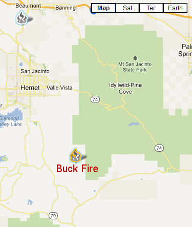 Buck Fire location