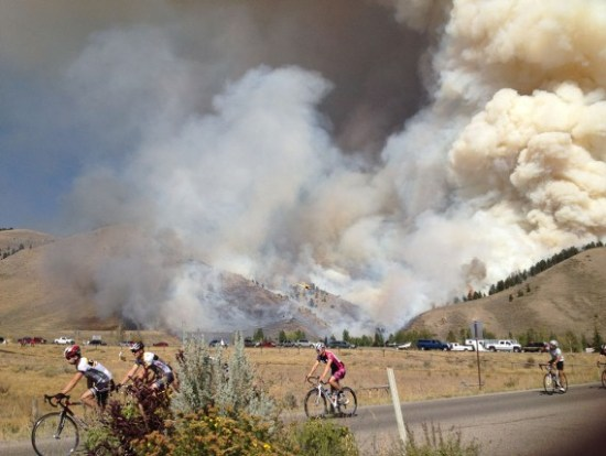 Horsethief Canyon Fire and bike race