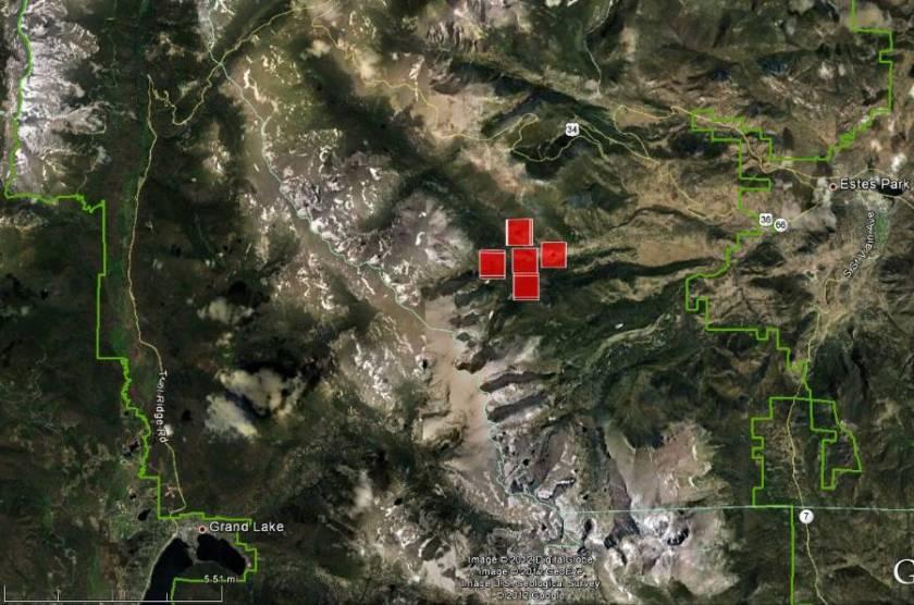 Map of Fren Lake Fire