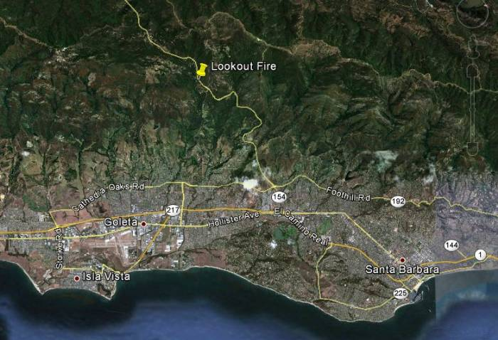 Map of Lookout fire