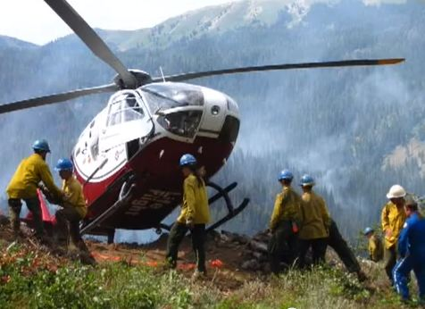 Deer Park Fire, tipping helicopter