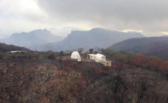 Wildfire Burns Structures At Observatory In New South Wales