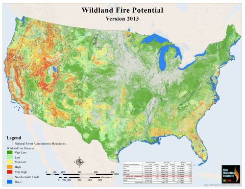 Wildland fire potential in the lower 48 states Wildfire Today