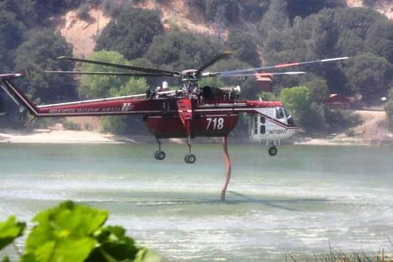 Helitanker 718, Powerhouse Fire