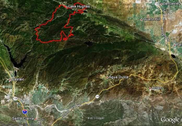 Map of Powerhouse Fire