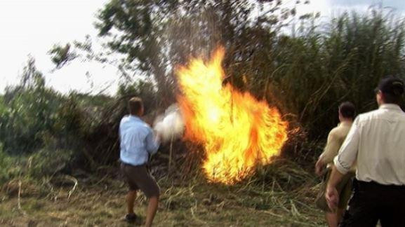 python hunter controlled burn
