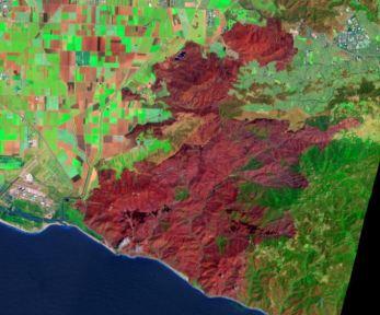 New Landsat satellite photographs Springs fire