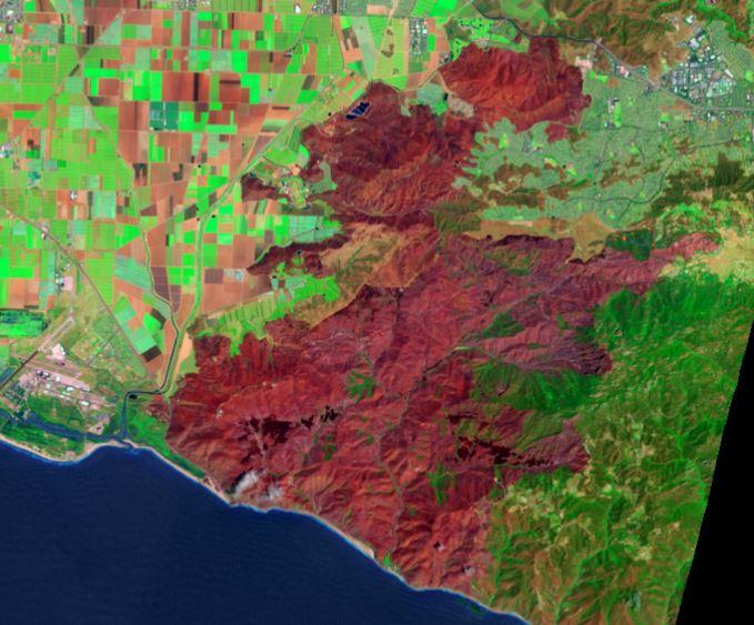 Springs Fire, Landsat photo