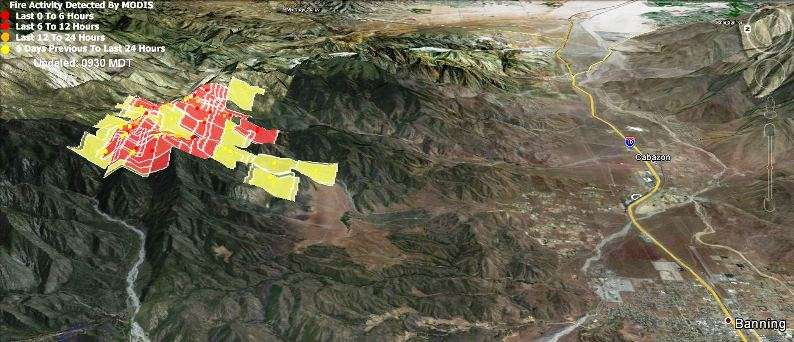 Map of Hathaway Fire, June 11