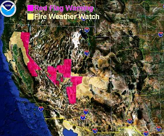 Wildfire Red Flag Warnings