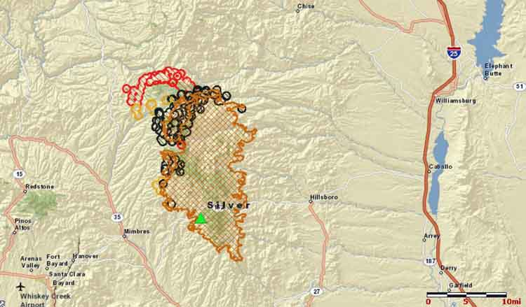 New Mexico Silver Fire Wildfire Today