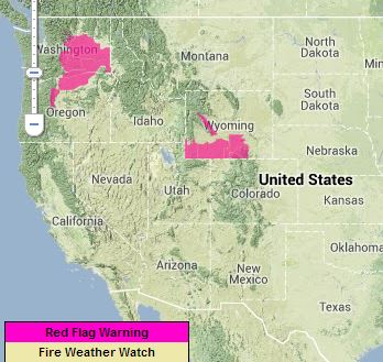 Red Flag Warnings wildfire