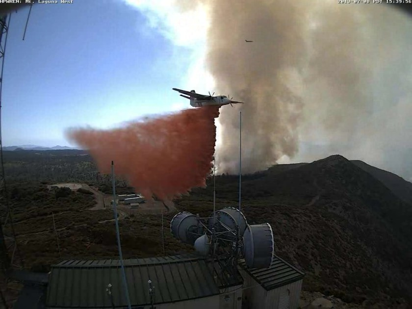 S-2T dropping near electronic site on Mt Laguna