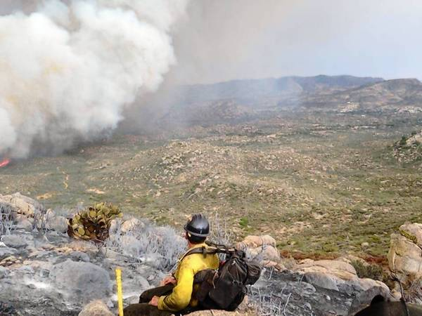 Yarnell Hill Fire photo texted at 4:04 p.m. by Granite Mountain HS