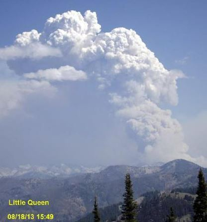 Little Queen Fire, August 18, 2013