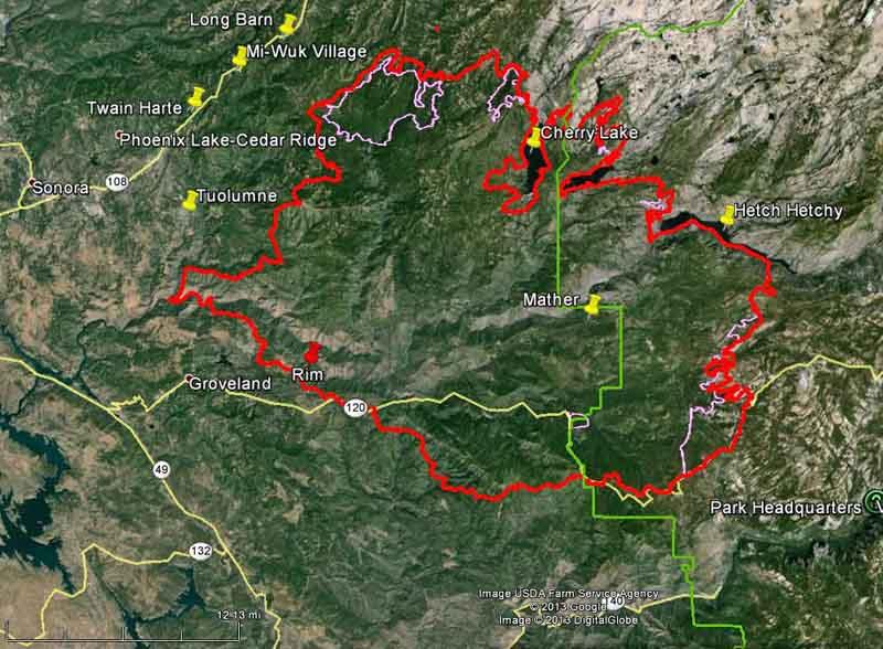 California: Rim Fire at Yosemite NP - Wildfire Today