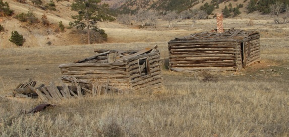 White Draw Fire, historic cabins, one year later