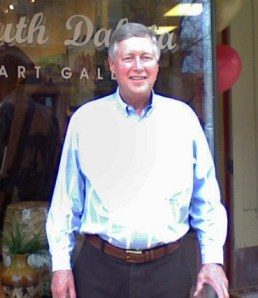Joe Lowe at the opening of his gallery in 2007.