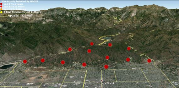 3-D Map of Colby Fire