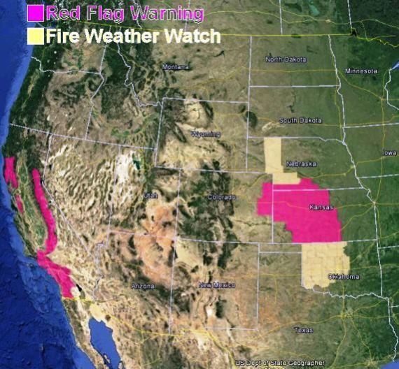 Red Flag Warning, January 16, 2014