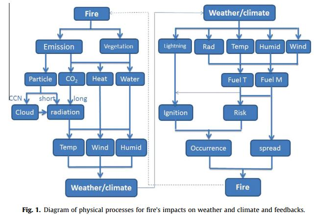 Wildfire-climate interactions