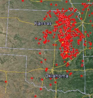 Google Earth, Kansas Rx fires