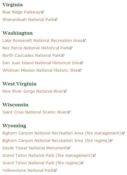 NPS park fire programs