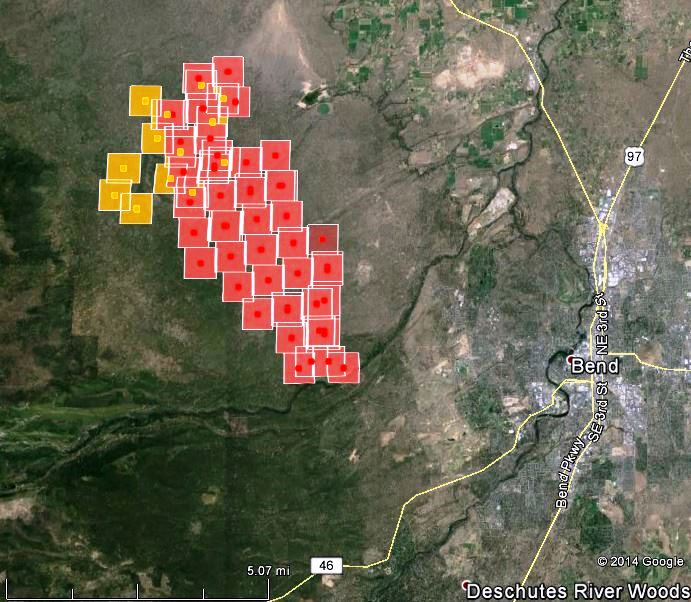 Map of Two Bulls Fire at 410 am PT June 8, 2014