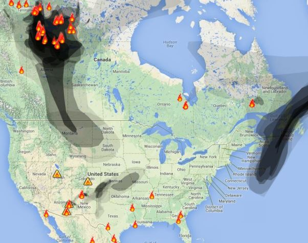 Canadian Smoke Drifts Into The United States Wildfire Today